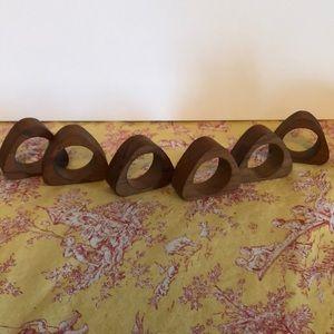 Vintage made in Japan wood napkin rings